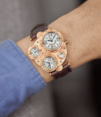four dial watch Vianney Halter Antiqua Perpetual Calendar rose gold Cal. VH198 independent watchmaker for sale online at A Collected Man London UK specialist of rare watches