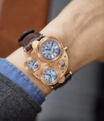 men's luxury rare preowned watch Vianney Halter Antiqua Perpetual Calendar rose gold Cal. VH198 independent watchmaker for sale online at A Collected Man London UK specialist of rare watches
