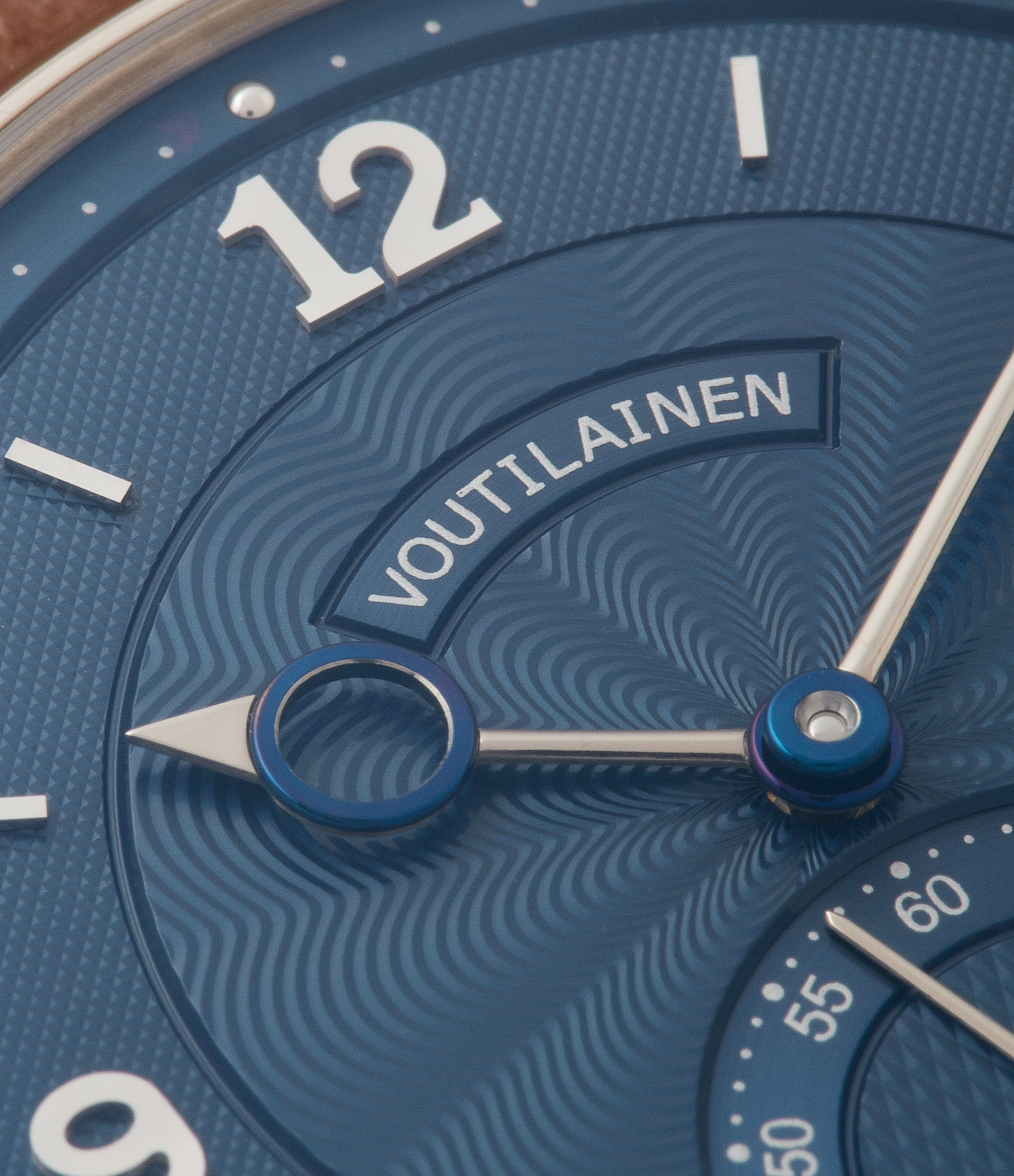 find Voutilainen blue dial Vingt-8 Cal. 28 pre-owned dress watch for sale online at A Collected Man London approved re-seller of independent watchmakers
