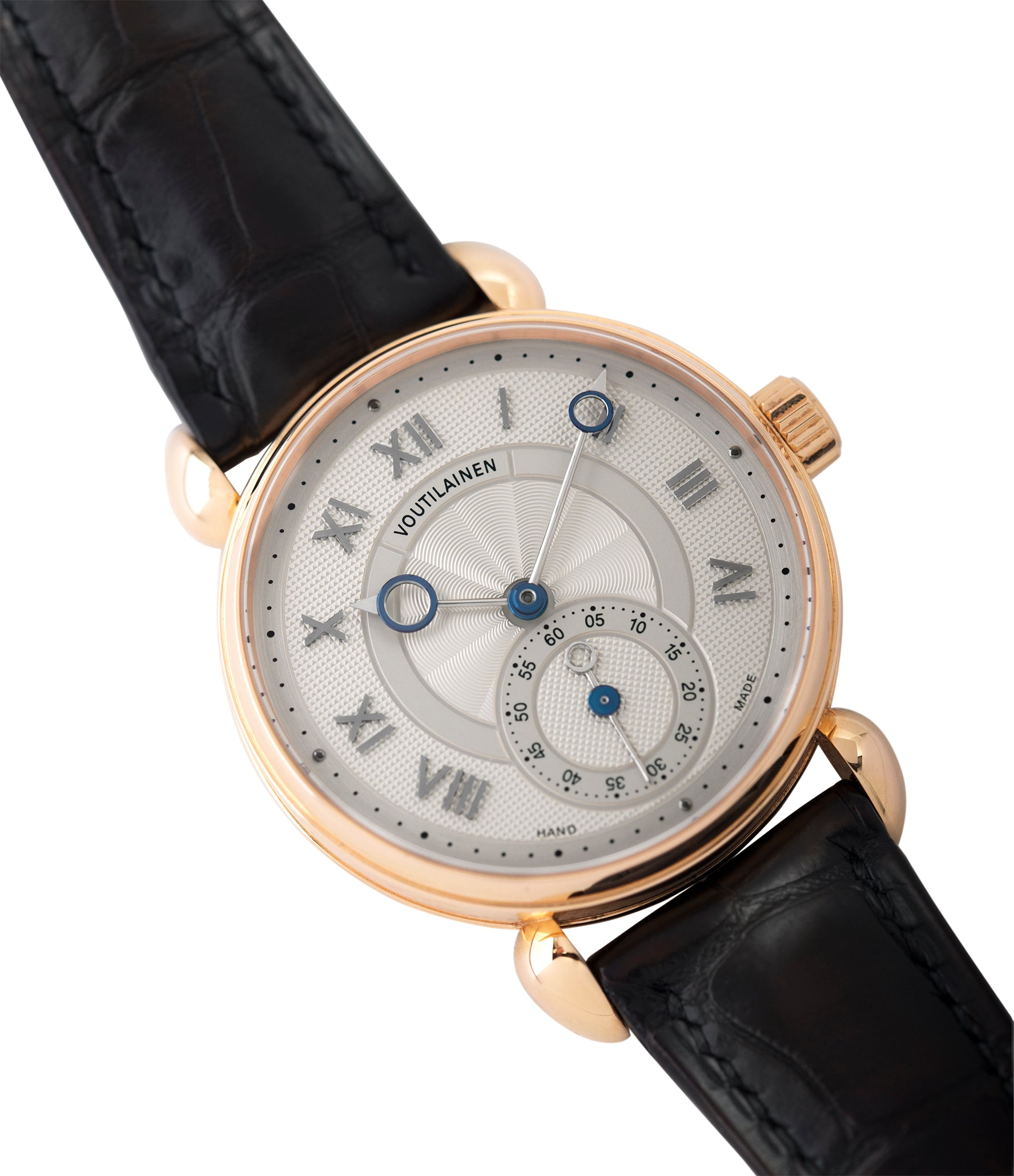 sell Voutilainen Observatoire Limited Edition rose gold rare dress watch for sale online at A Collected Man London endorsed seller of independent watchmaker