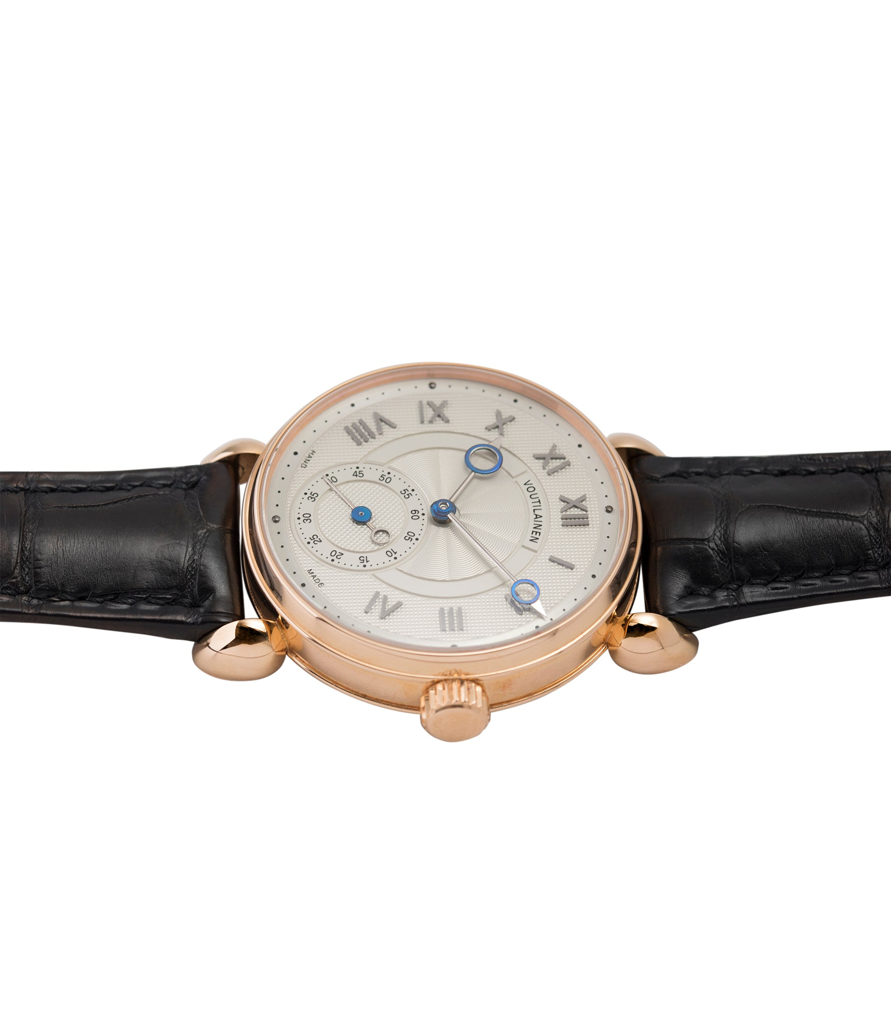 gents rare watch Voutilainen Observatoire Limited Edition rose gold rare dress watch for sale online at A Collected Man London endorsed seller of independent watchmaker