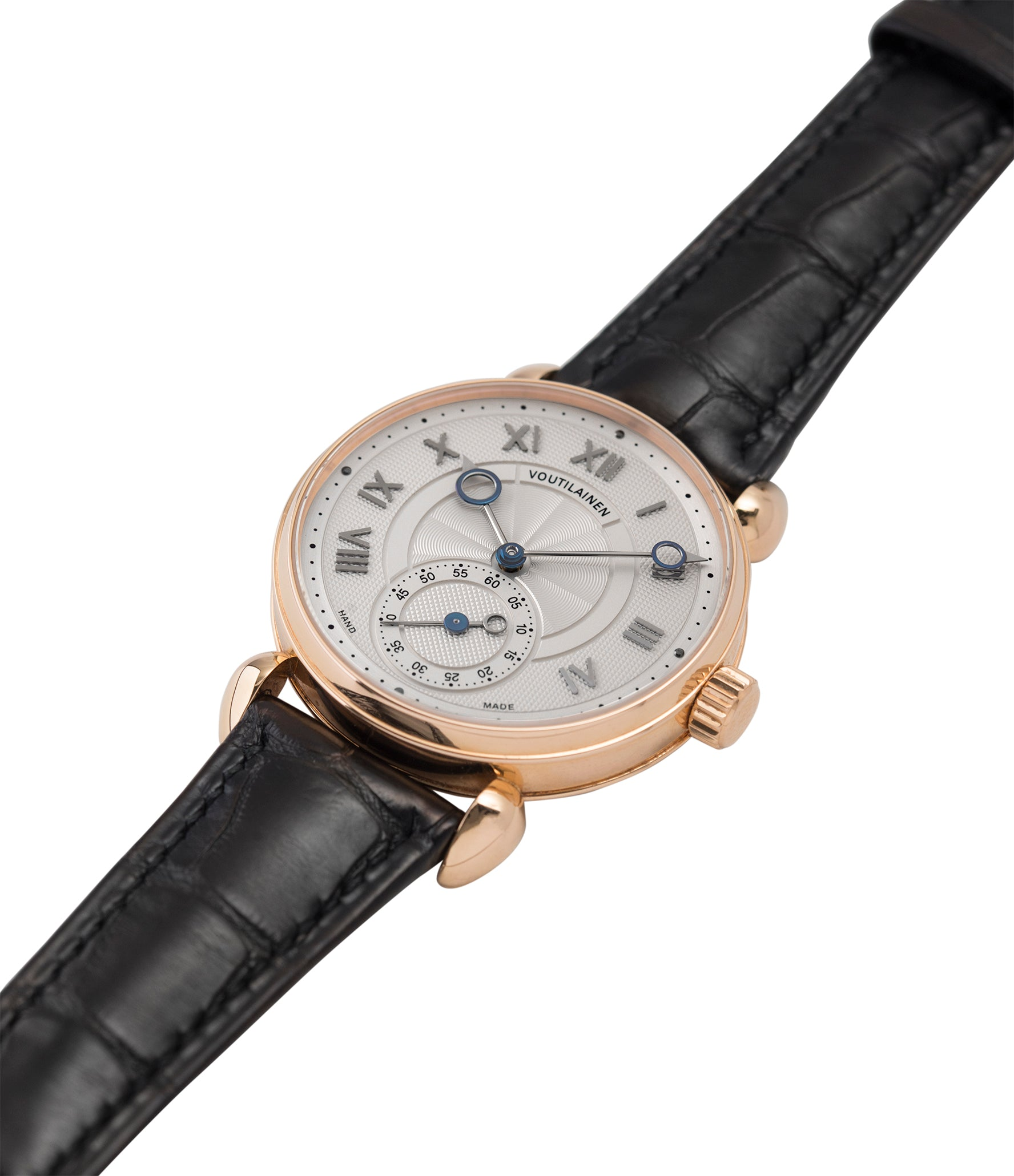 selling Voutilainen Observatoire Limited Edition rose gold rare dress watch for sale online at A Collected Man London endorsed seller of independent watchmaker