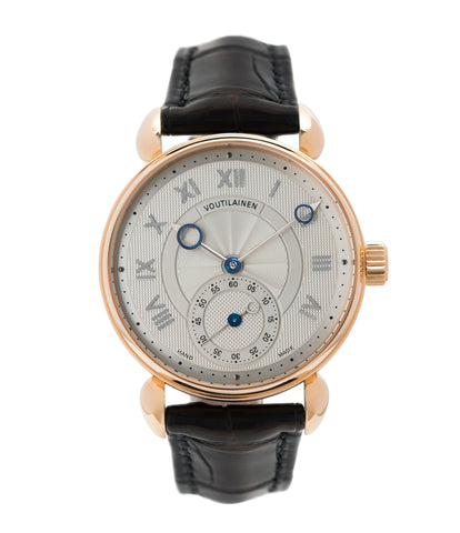buy Kari Voutilainen Observatoire Limited Edition rose gold rare dress watch for sale online at A Collected Man London endorsed seller of independent watchmaker