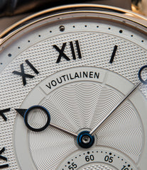 guilloche engine-turned Voutilainen Observatoire Limited Edition rose gold rare dress watch for sale online at A Collected Man London endorsed seller of independent watchmaker