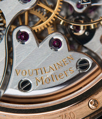 hand-made watch Voutilainen Observatoire Limited Edition rose gold rare dress watch for sale online at A Collected Man London endorsed seller of independent watchmaker