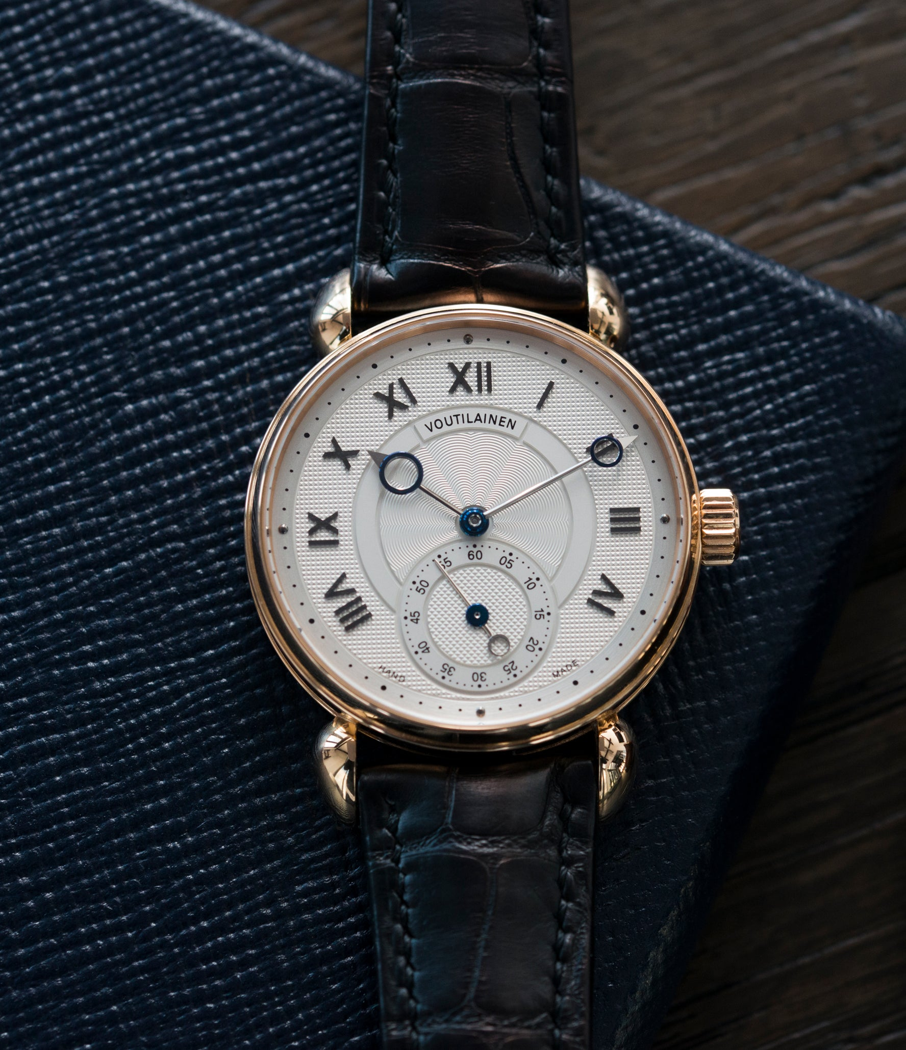 selling Kari Voutilainen Observatoire Limited Edition rose gold rare dress watch for sale online at A Collected Man London endorsed seller of independent watchmaker