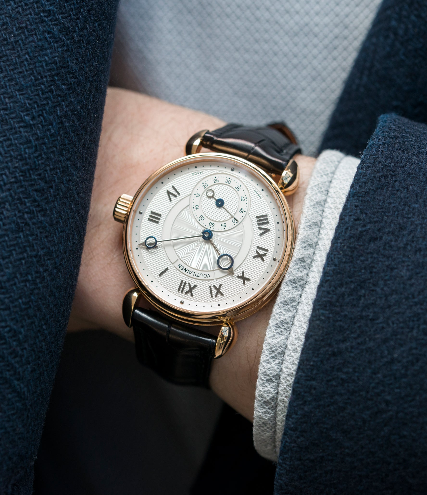 buying Kari Voutilainen Observatoire Limited Edition rose gold rare dress watch for sale online at A Collected Man London endorsed seller of independent watchmaker
