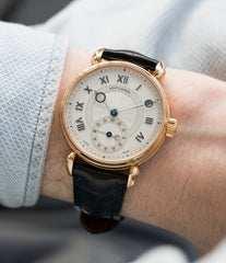 men's rare luxury dress watch Voutilainen Observatoire Limited Edition rose gold rare dress watch for sale online at A Collected Man London endorsed seller of independent watchmaker