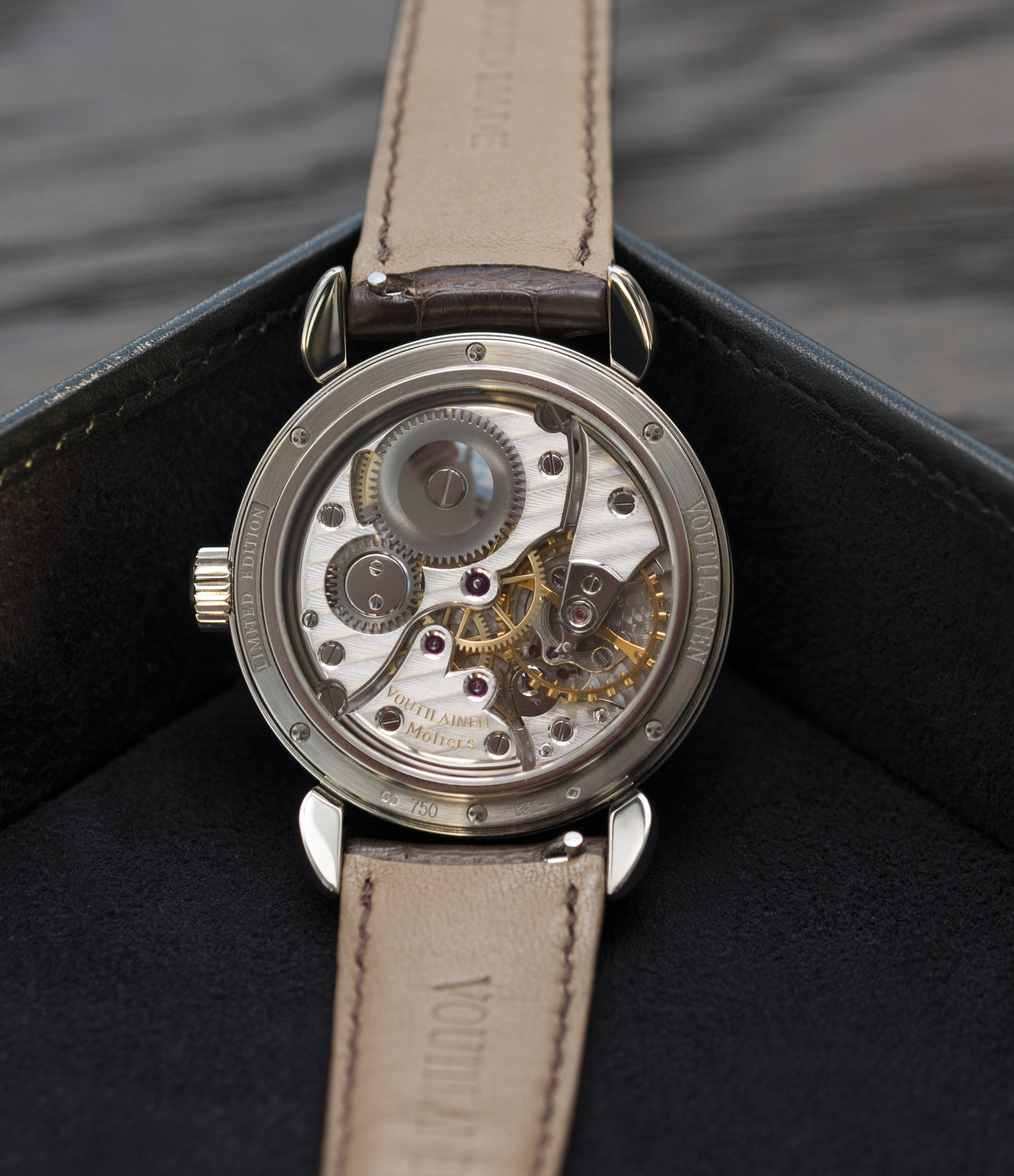 Peseux 260 Kari Voutilainen Observatoire Limited Edition rare brown dial watch online at A Collected Man London specialist endorsed seller of pre-owned independent watchmakers