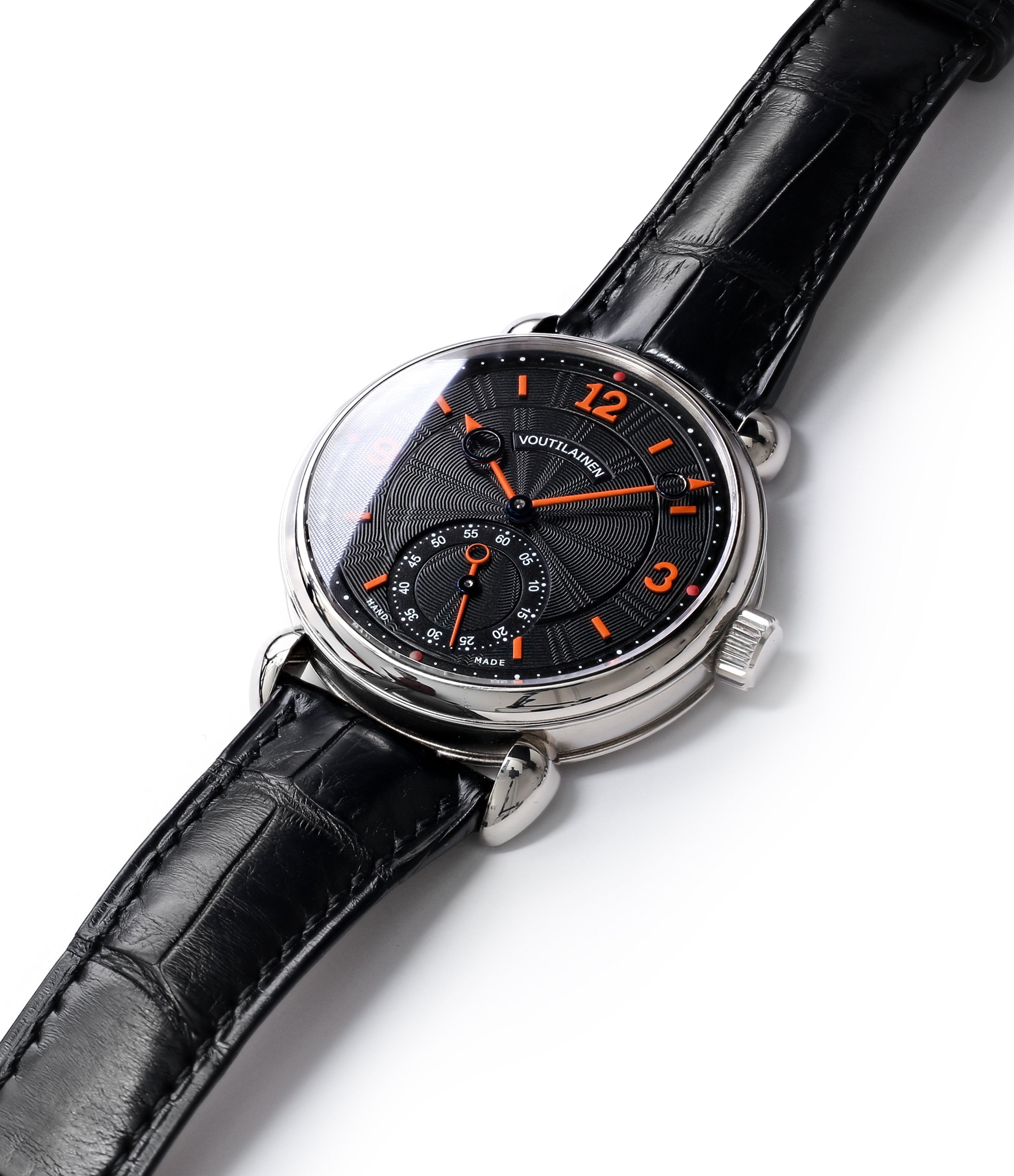 buy Voutilainen Vingt-8 Cal. 28 watch with two dials for sale online at a Collected Man online specialist platform for independent watchmakers