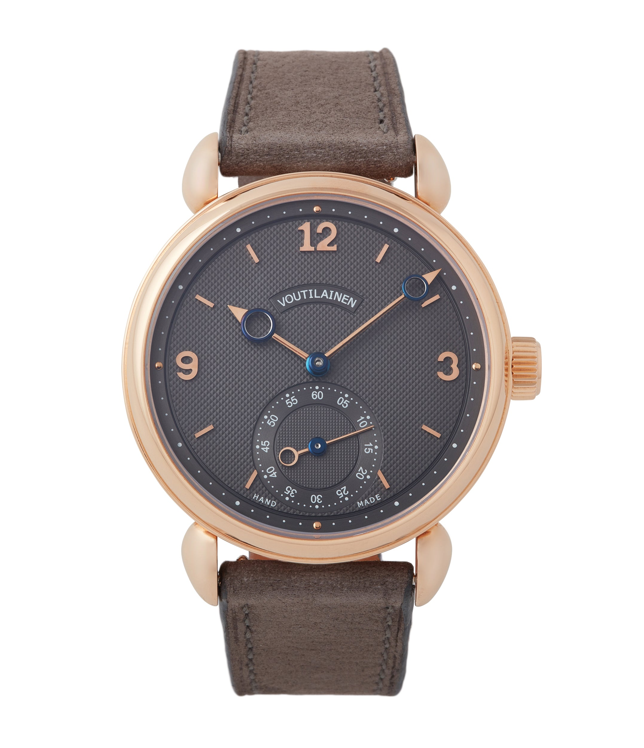 buy Kari Voutilainen Vingt-8 grey dial rose gold time-only watch independent watchmaker for sale online A Collected Man London UK specialist rare watches