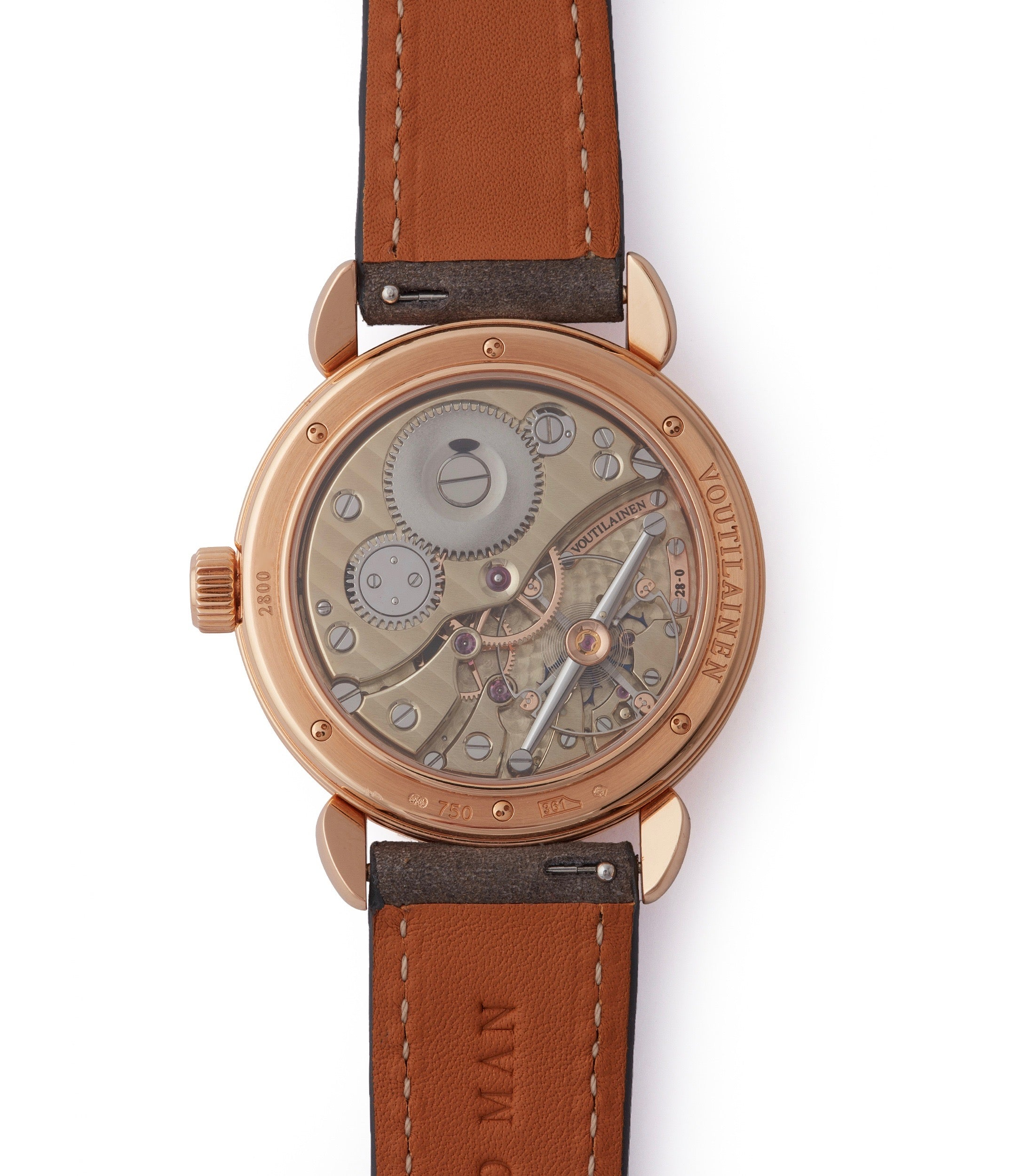 calibre 18 manula-winding Voutilainen Vingt-8 grey dial rose gold time-only watch independent watchmaker for sale online A Collected Man London UK specialist rare watches