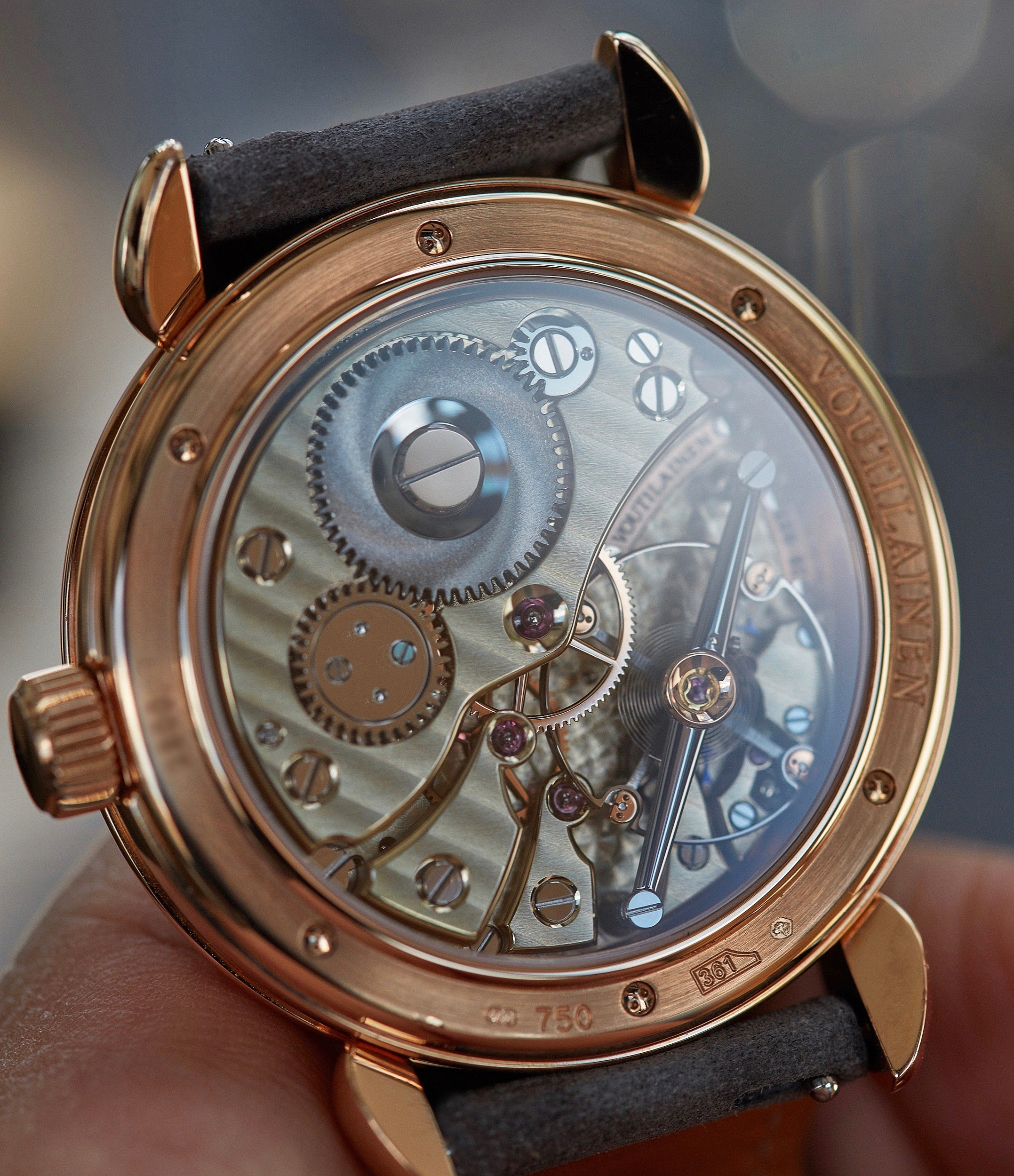 Cal. 28 hand-made movement Voutilainen Vingt-8 grey dial rose gold time-only watch independent watchmaker for sale online A Collected Man London UK specialist rare watches