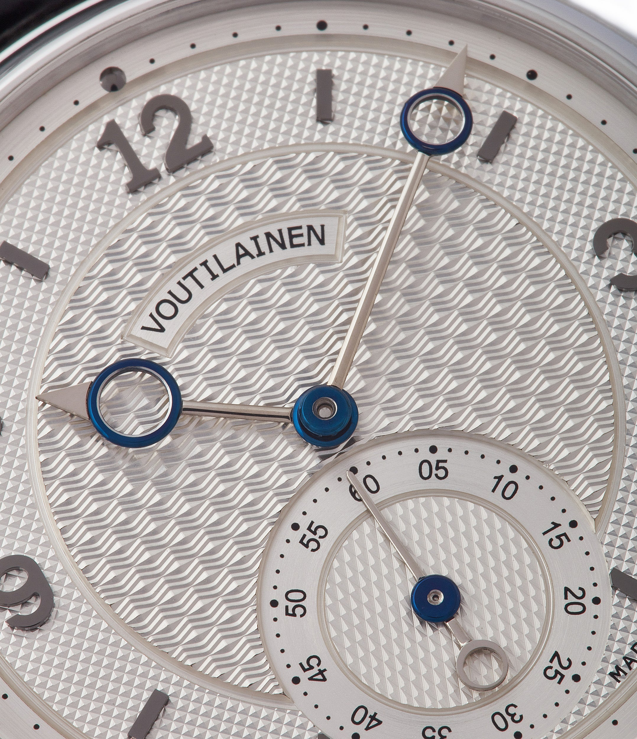 selling Voutilainen Vingt-8 rare pre-owned platinum watch with silver dial for sale online at A Collected Man London UK endorsed seller of Voutilainen watches