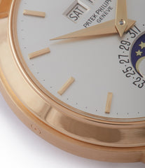 yellow gold Patek Philippe 3448 Perpetual Calendar Moonphase yellow gold dress watch for sale online at A Collected Man London UK specialist of rare watches