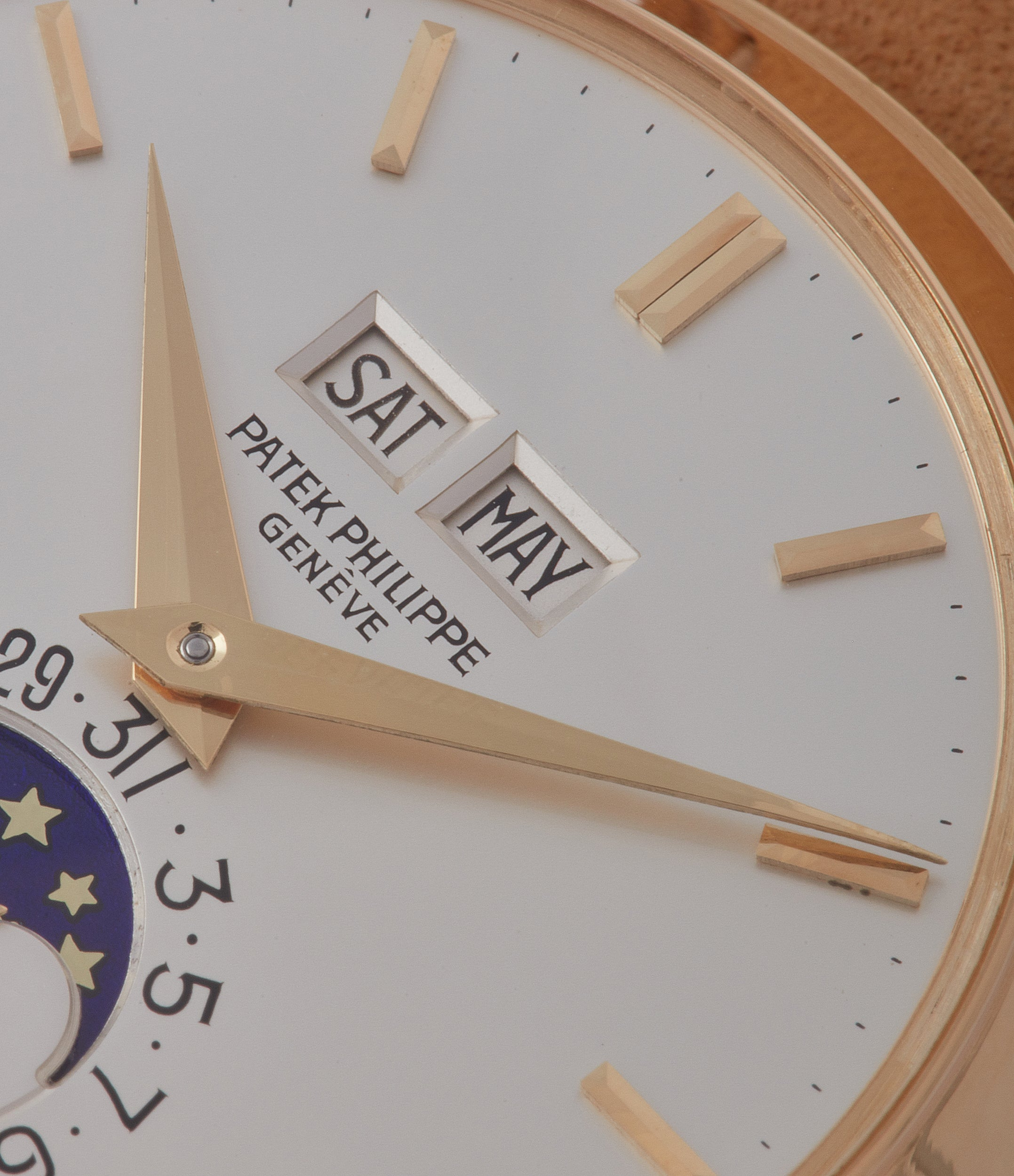 selling vintage Patek Philippe 3448 Perpetual Calendar Moonphase yellow gold dress watch for sale online at A Collected Man London UK specialist of rare watches