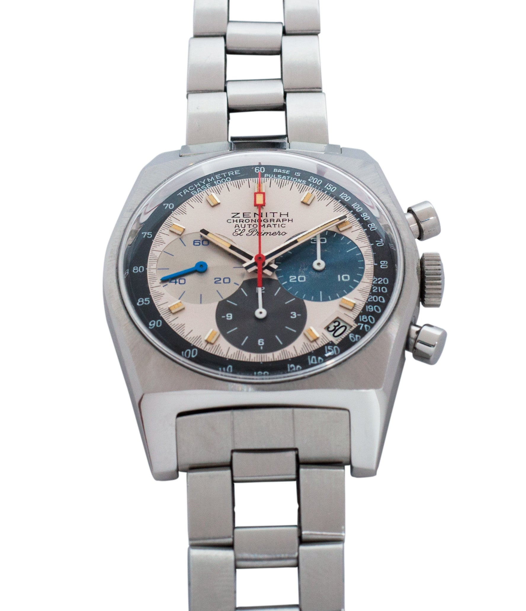 selling Zenith El Primero A3817 steel automatic chronograph vintage watch for sale online at A Collected Man vintage rare watch specialist