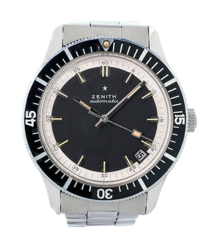 buy vintage Zenith A3630 divers steel sports watch online at A Collected Man