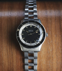 vintage steel sports watch sale Zenith A3630 divers steel online at A Collected Man