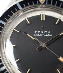 lume hands buy vintage sports watch Zenith A3630 divers steel online at A Collected Man