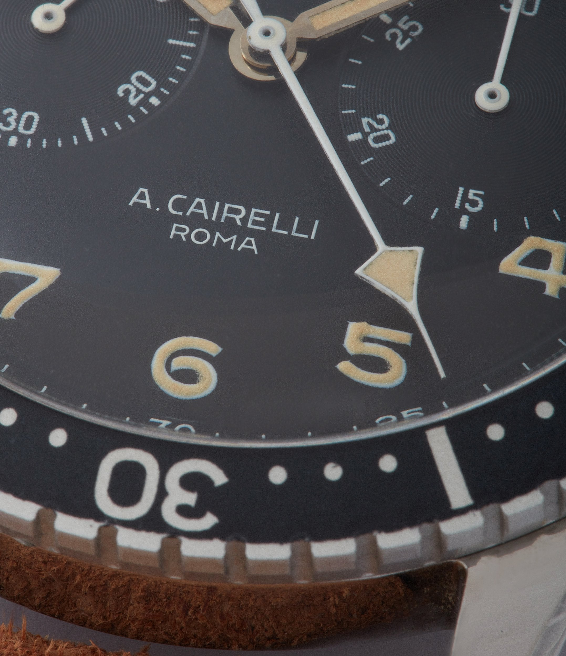 A. Cairelli Roma Zenith CP-2 steel vintage military chronograph sports watch for sale online A Collected Man London home of rare watches