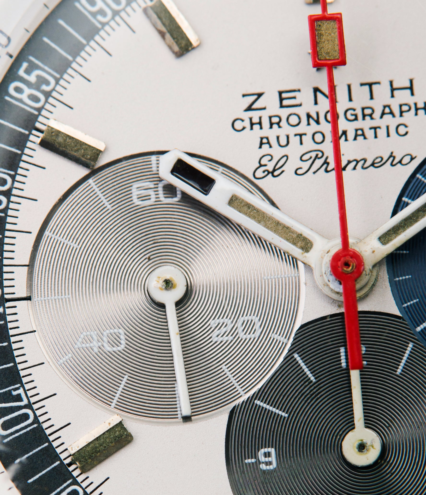 Zenith Chronograph Automatic El Primero three-register dial A386 rare vintage watch at A Collected Man London