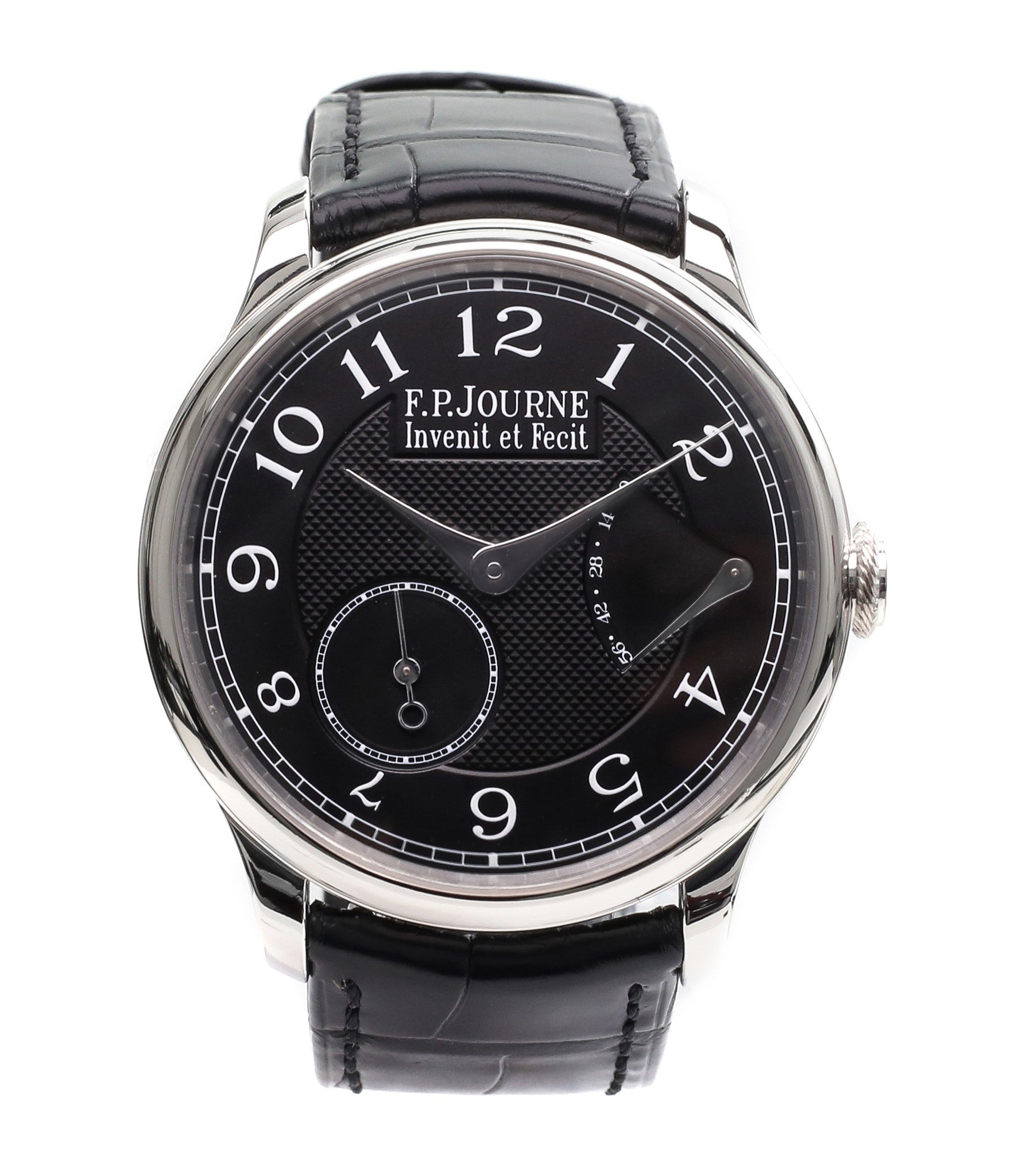 buy F. P. Journe Chronometre Souverain Black label platinum 38 mm watch online at A Collected Man
