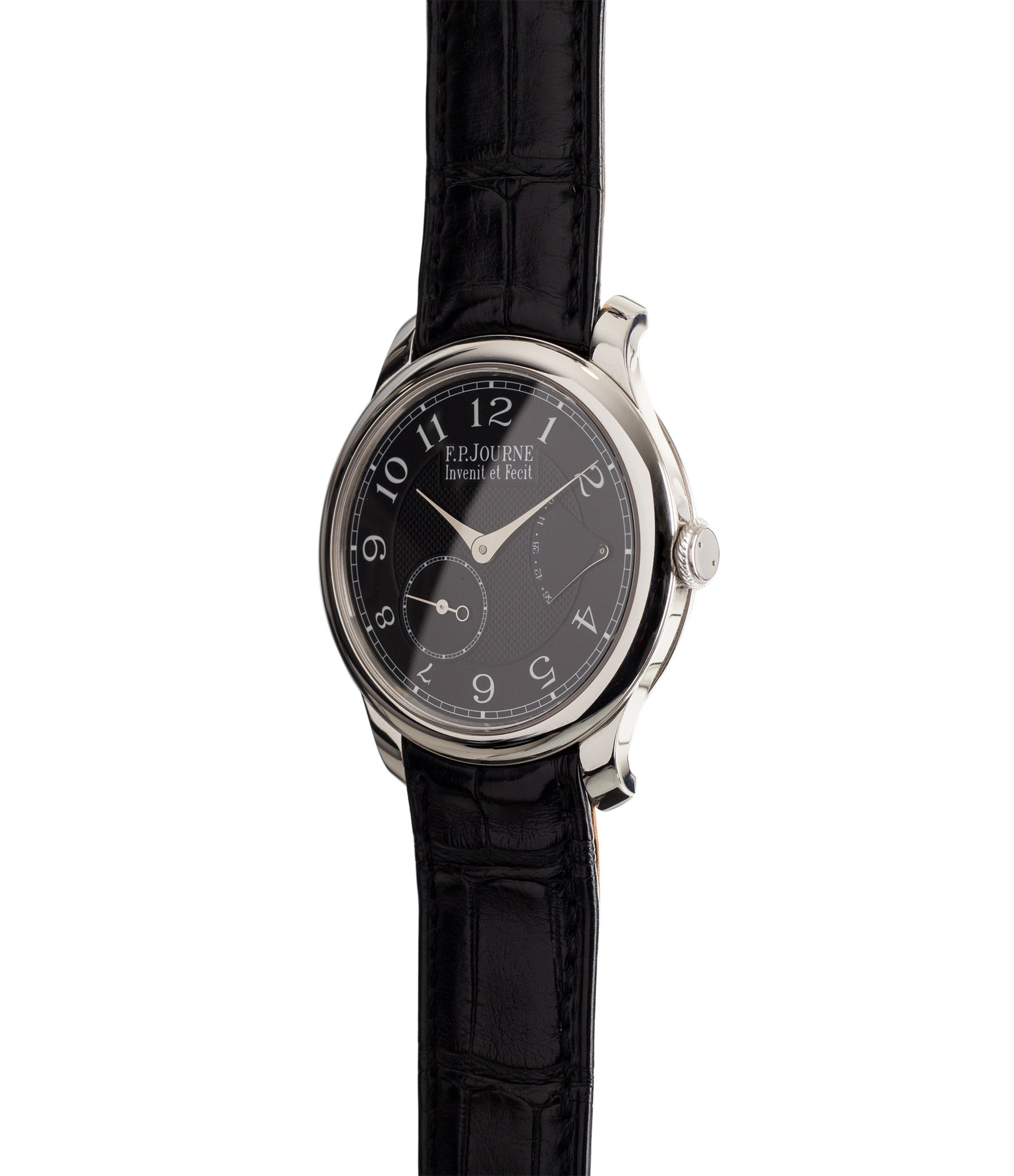 buy F. P. Journe Chronometre Souverain Black Label platinum rare independent watchmaker pre-owned dress time-only watch for sale online at WATCH XCHANGE London