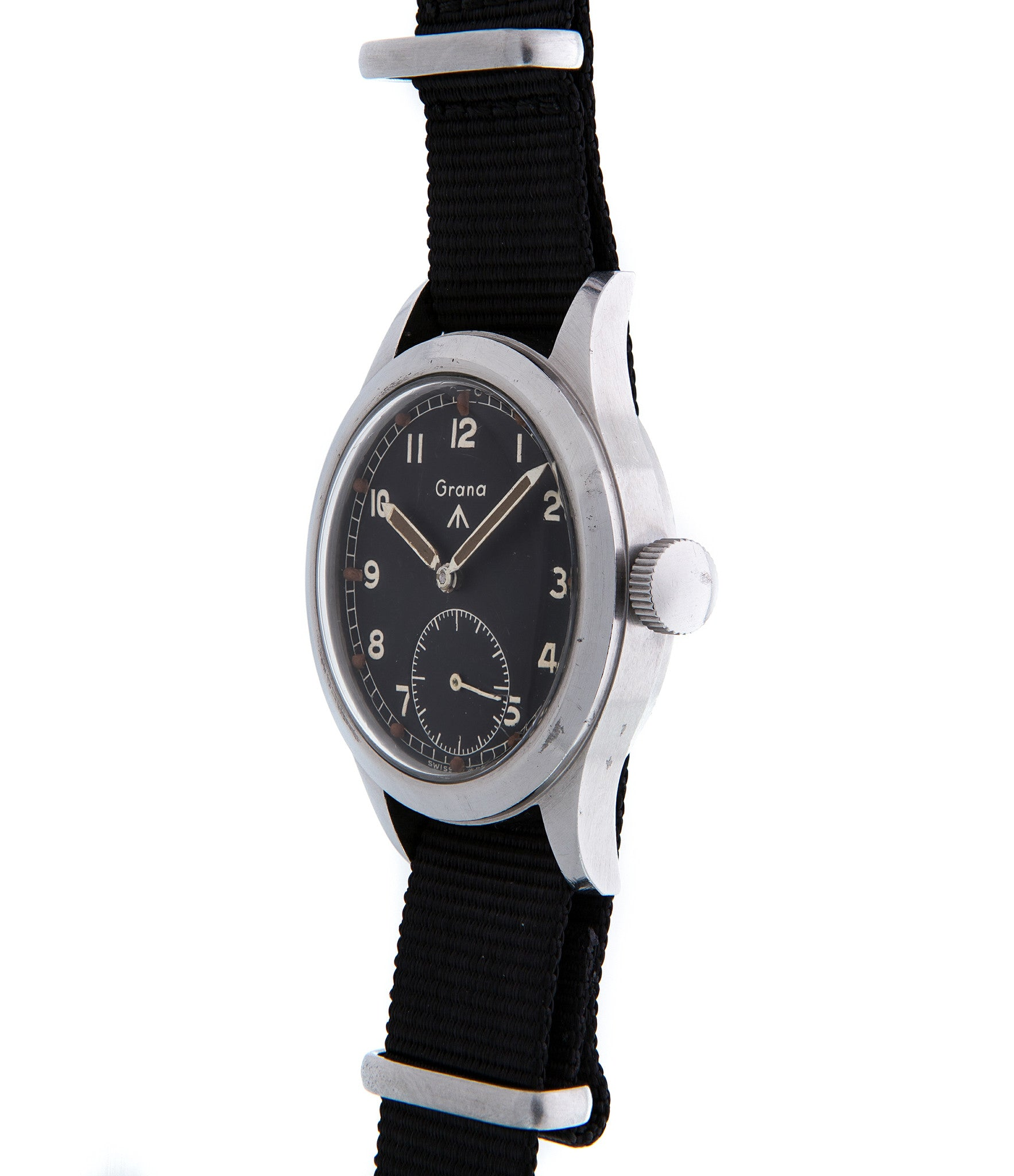 buy Grana W.W.W. rare British military vintage watch online in steel with original black dial and authenticity guaranteed from WATCH XCHANGE