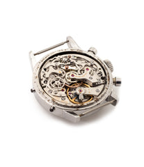 Valjoux 72C column-wheel movement in Heuer Carrera 12 Dato steel vintage watch for sale