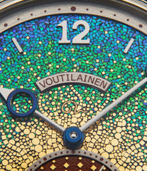 selling Kari Voutilainen's Vingt-8 Kaen Baselworld SIHH unique piece watch Unryuan dial mosaic green blue gold Japanese hand-made dial Swiss watch for sale in white gold from approved re-seller of independent watchmakers WATCH XCHANGE London