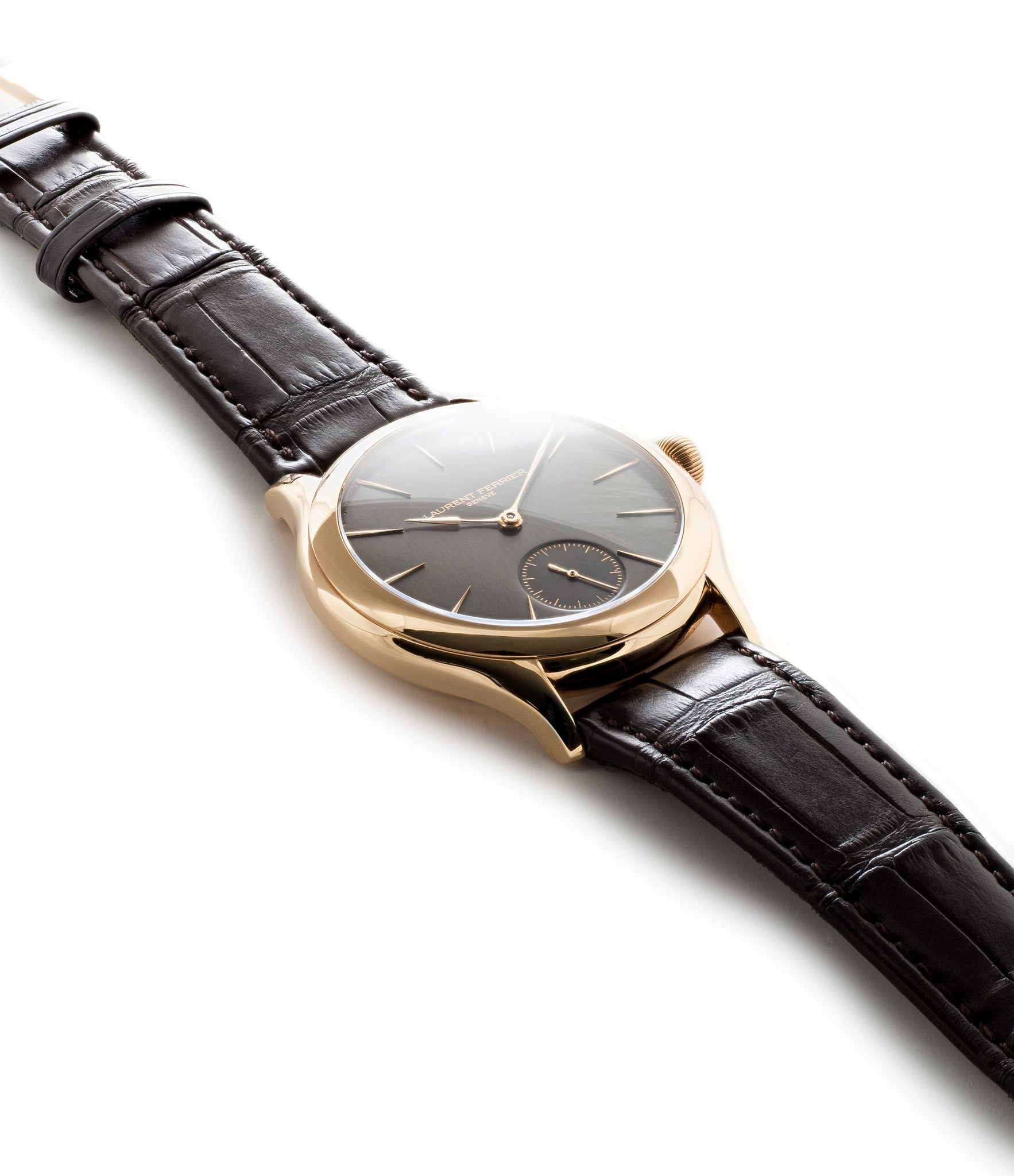 buy Laurent Ferrier Galet Micro-Rotor LCF004-R rose gold time-only automatic dress watch slate dial from independent watchmaker for sale online WATCH XCHANGE London full set with authenticity guranteed