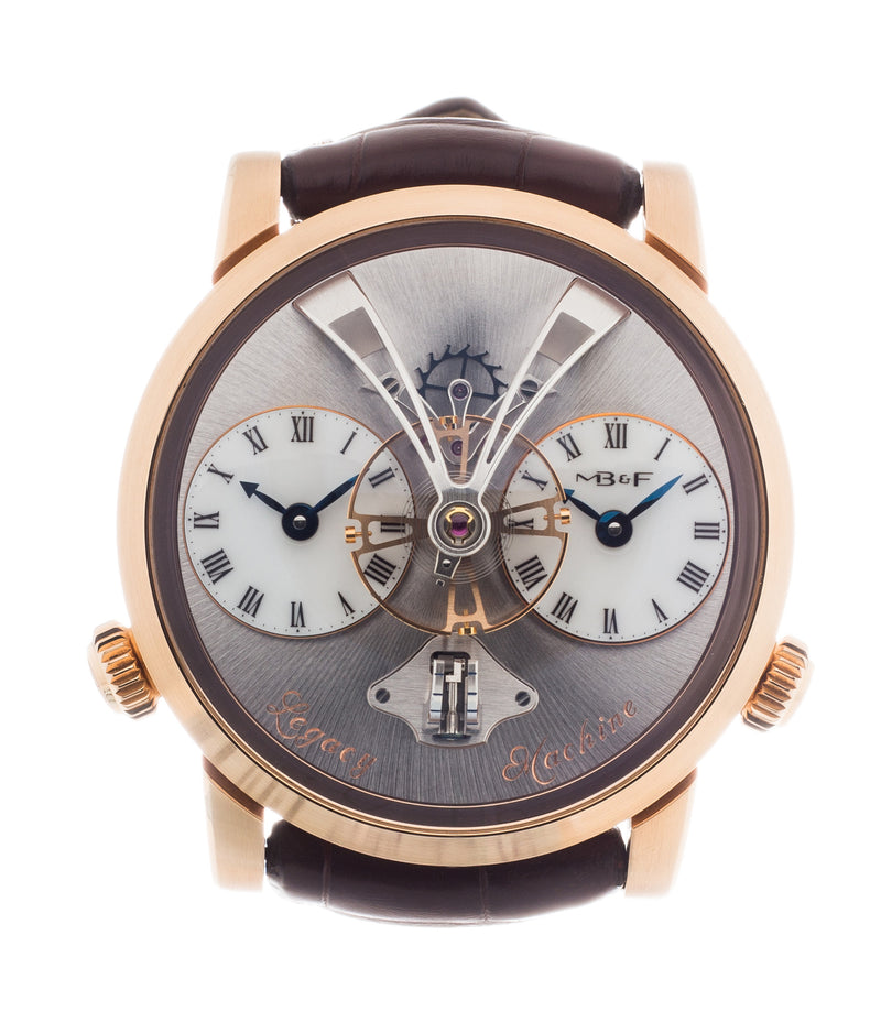 buy MB&F Voutilainen& Mojon LM1 Legacy Machine No. 1 rose gold time-only rare traveller watch from independent watchmaker for sale online at A Collected Man London UK specialist of independent watchmakers