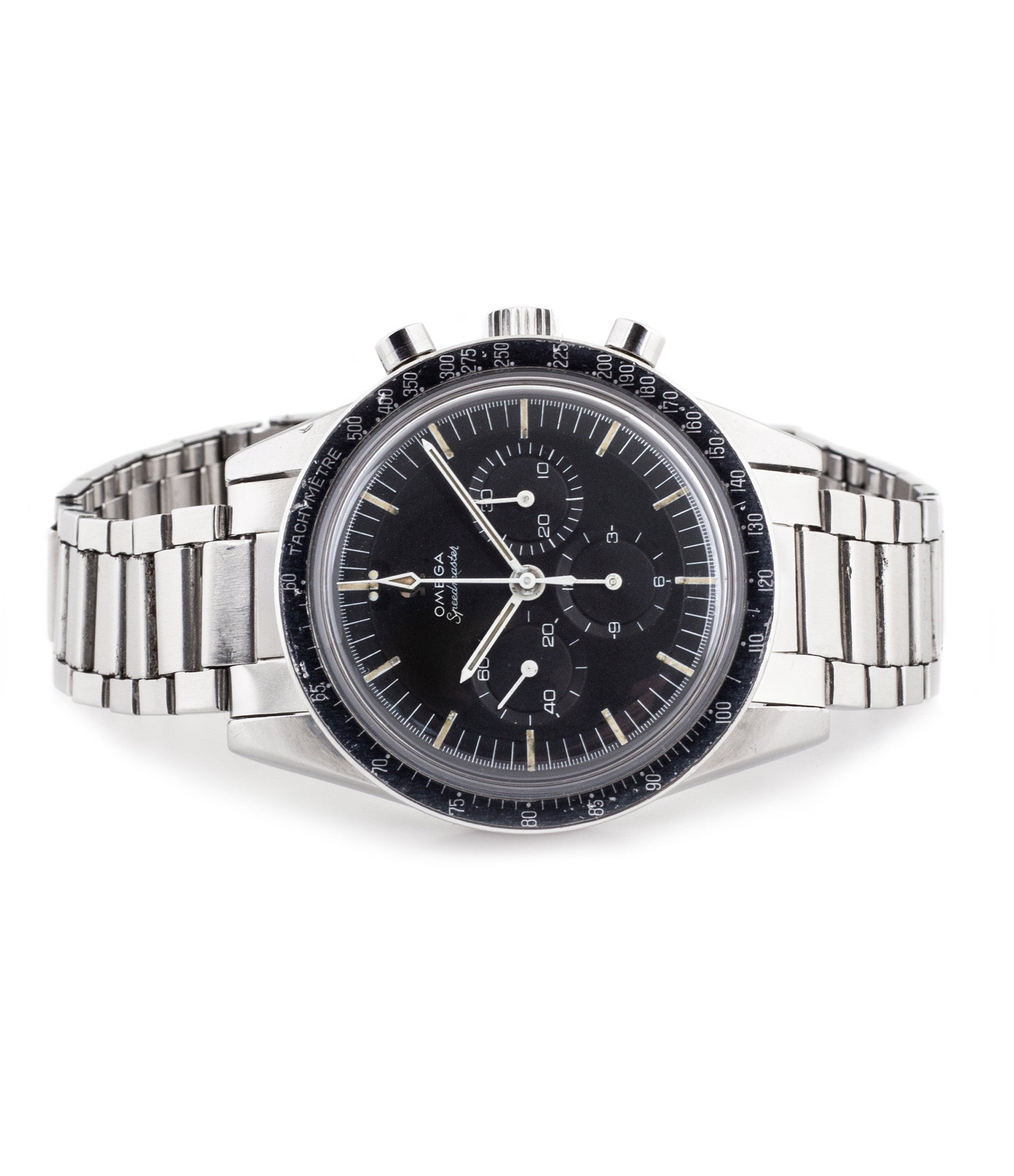 buy vintage Omega Speedmaster Ed White 105.003 steel chronograph watch full set for sale online at WATCH XCHANGE London