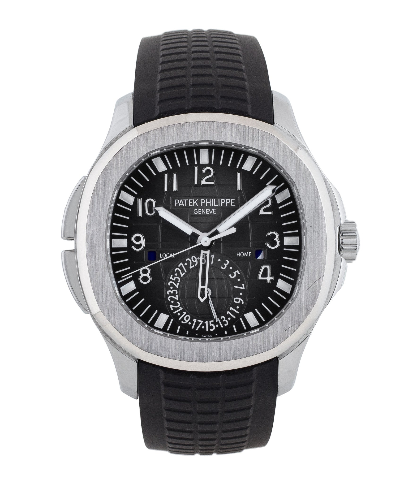 buy Patek Philippe Aquanaut Travel-time 5164A-001 steel pre-owned traveller  automatic