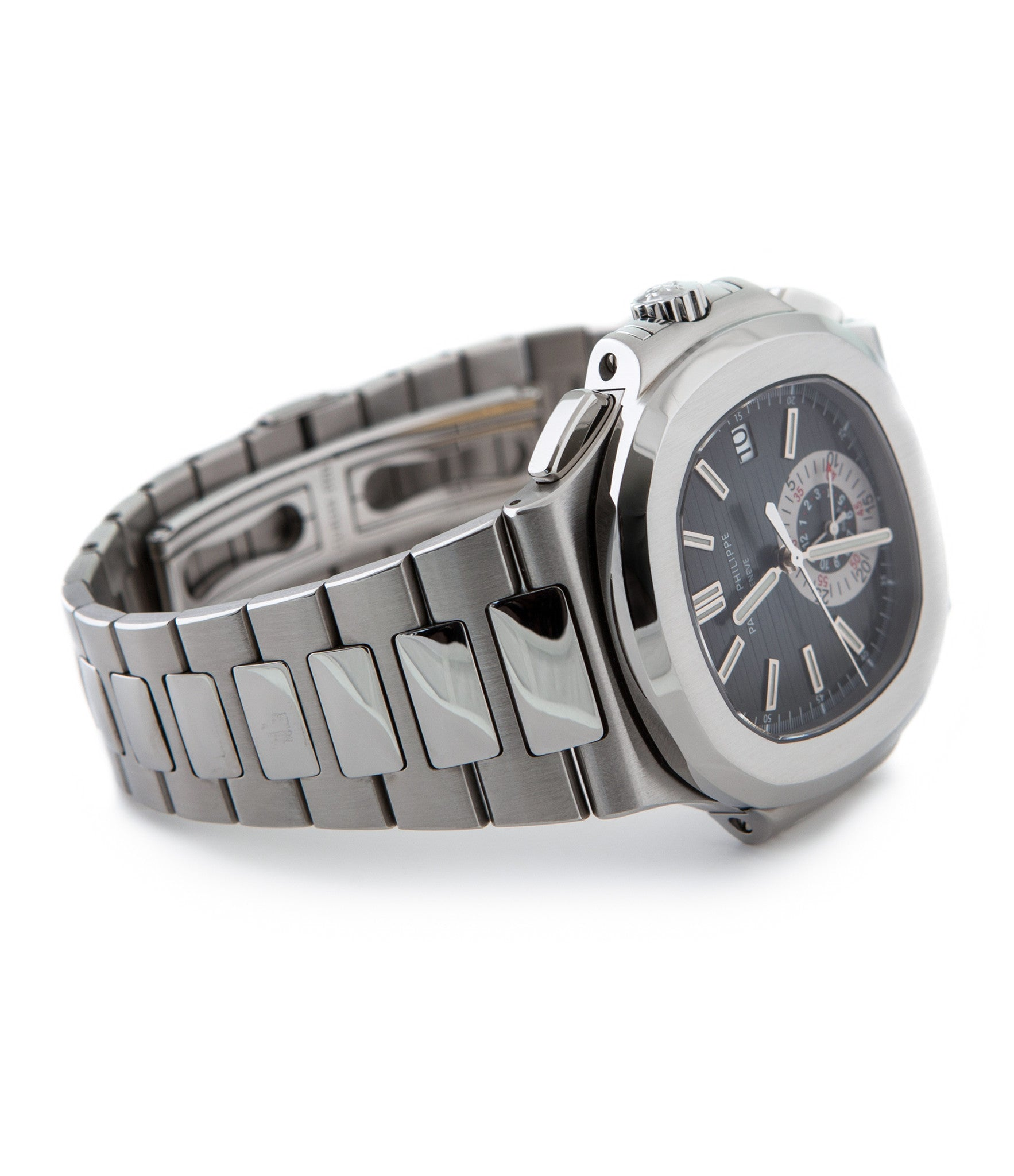 buy Patek Philippe Chronograph Nautilus 5980A discontinued rare steel watch online pre-owned luxury authentic watch from WATCH XCHANGE London for sale