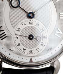 buy hand-made Kari Voutilainen Observatorie rare hand-made time-only white gold watch from independent watchmaker online for sale WATCH XCHANGE London with box and papers and blue hands and guilloche dial