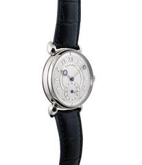 buy Kari Voutilainen Observatorie rare hand-made time-only white gold watch from independent watchmaker online for sale WATCH XCHANGE London with box and papers and blue hands and guilloche dial