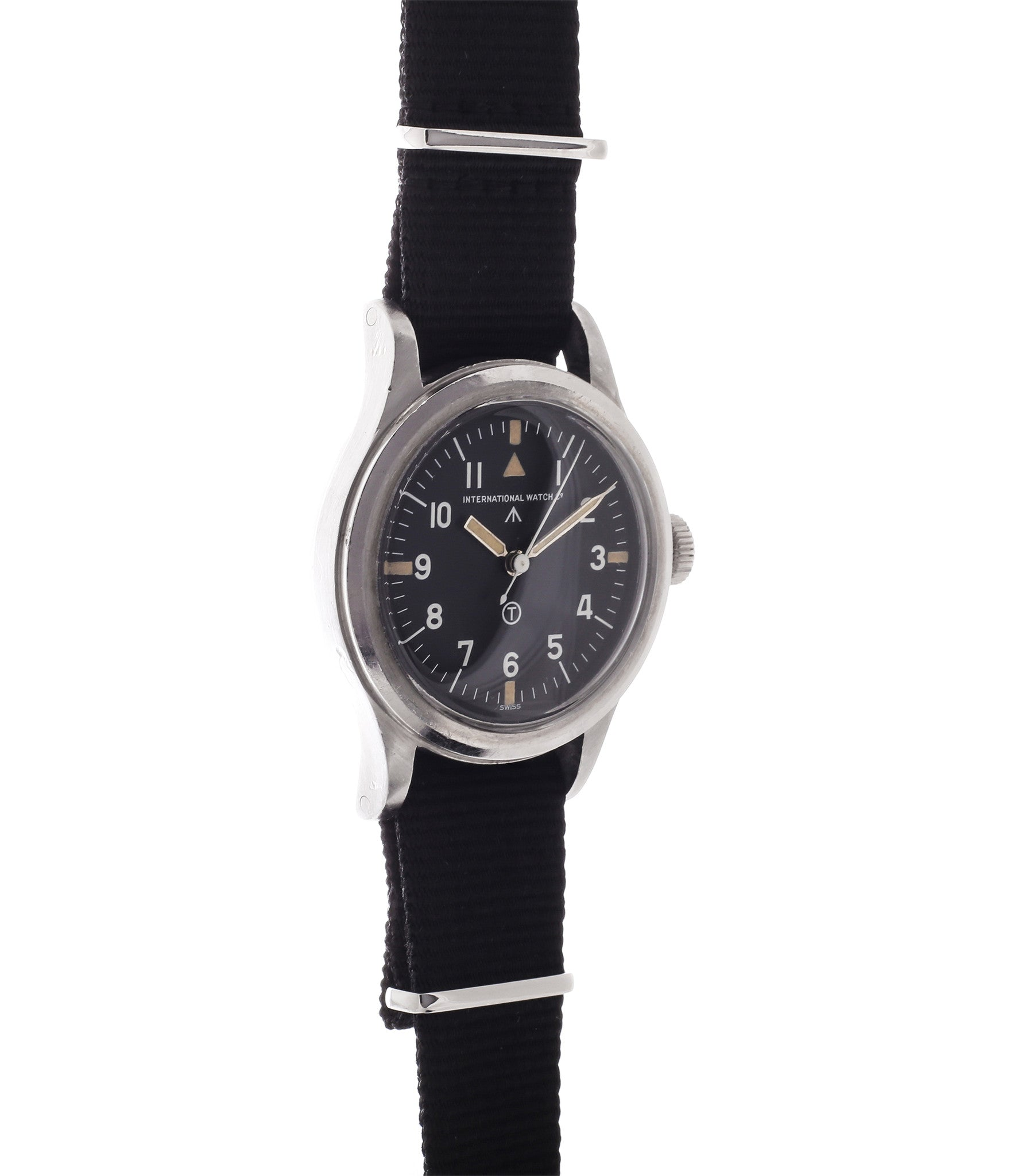 buy vintage IWC Mark 11 6B/346 British RAF military watch rare hooked 7 unrestored tritium dial for sale online WATCH XCHANGE London with authenticity guaranteed