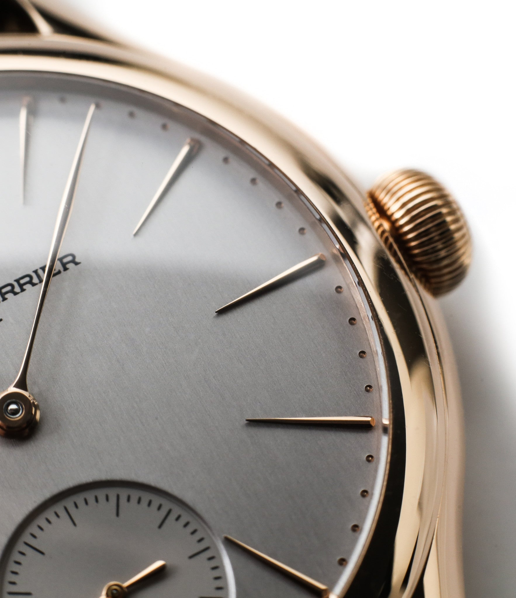 buy Laurent Ferrier Galet Micro-rotor LCF004-R rose gold silver dial independent watchmaker from WATCH XCHANGE London