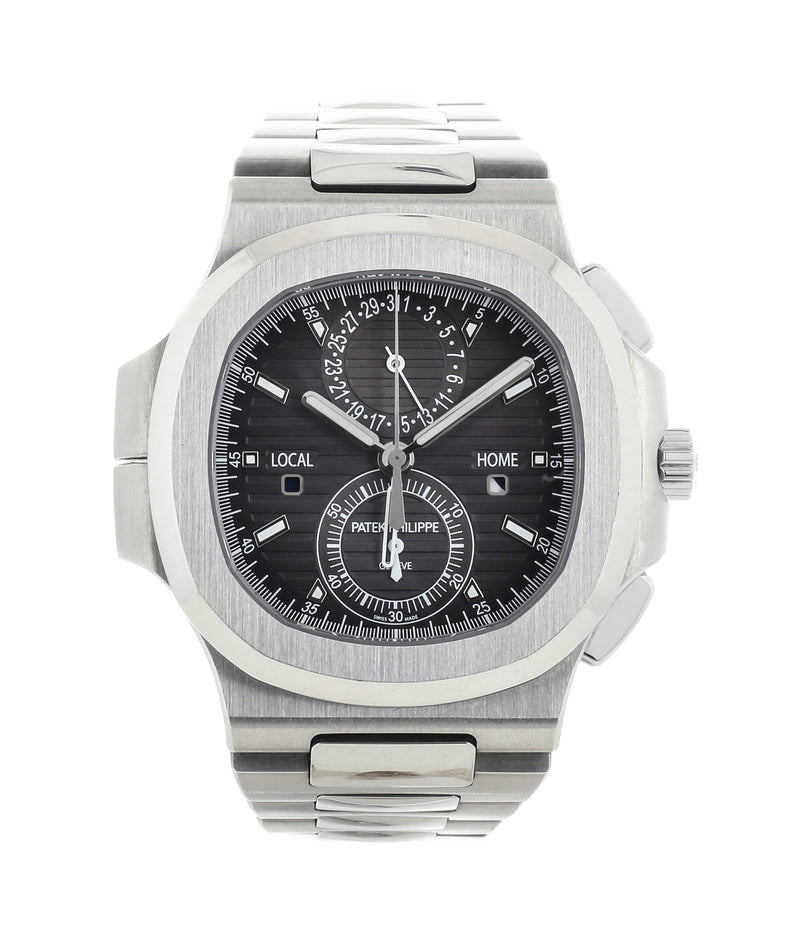 buy Patek Philippe Nautilius Travel-Time Chronograph 5990 steel pre-owned job full set from 2016 for sale online WATCH XCHANGE London with authenticity guaranteed
