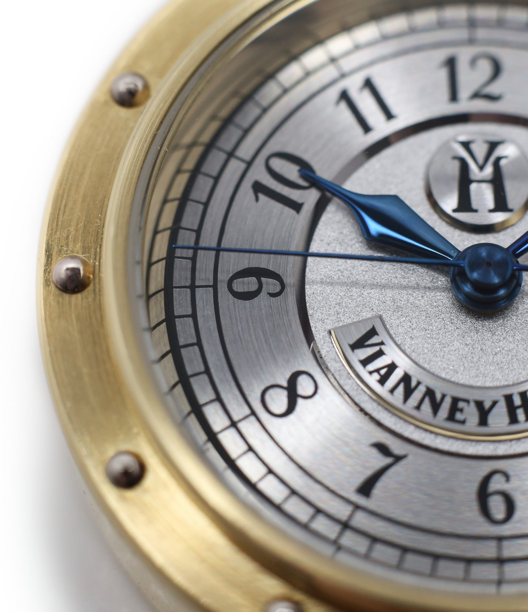 Arabic numerals buy Vianney Halter Classic yellow gold time-only dress watch at A Collected Man the approve seller of independent watchmakers