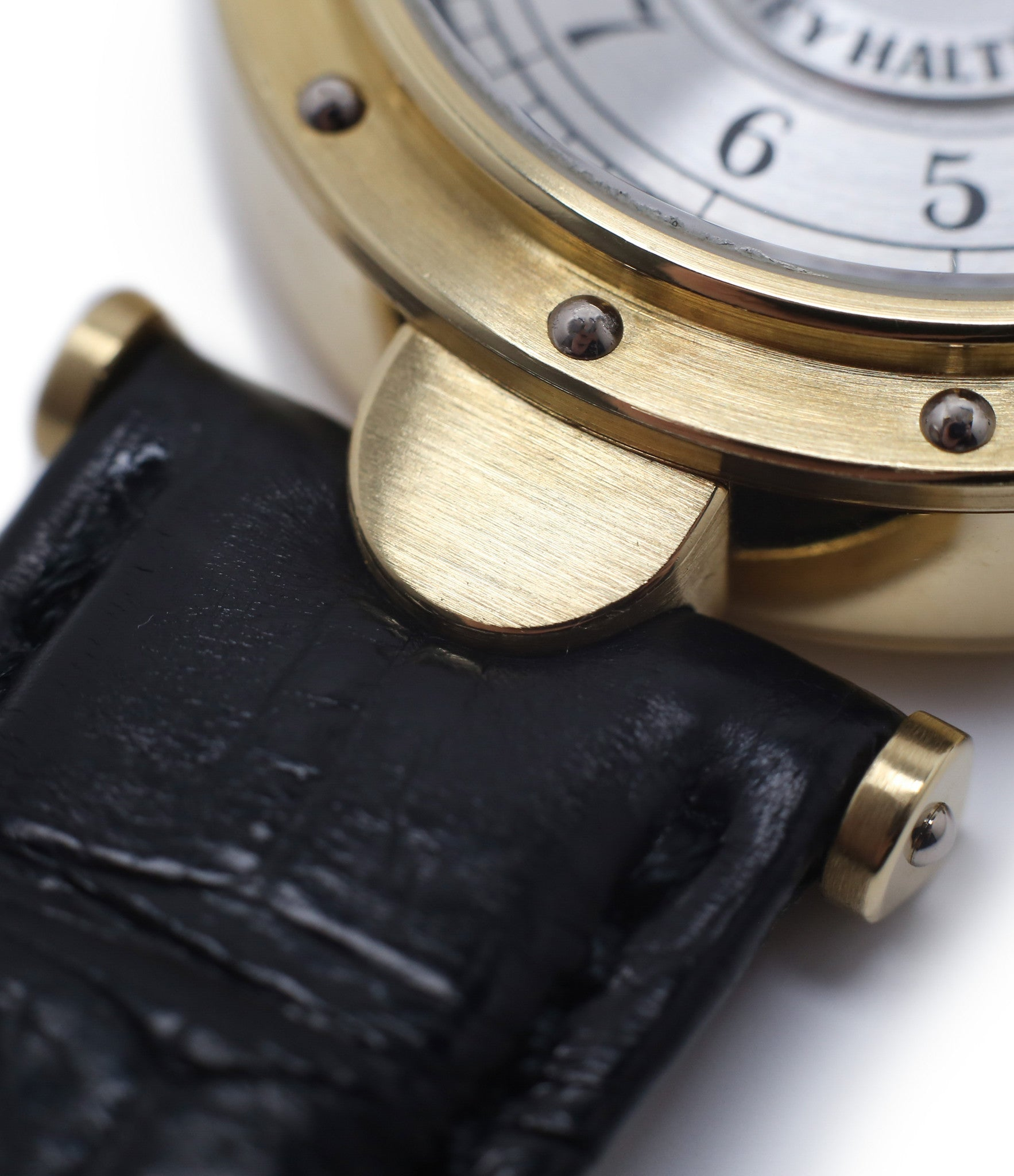 lugs buy Vianney Halter Classic yellow gold time-only dress watch at A Collected Man the approve seller of independent watchmakers