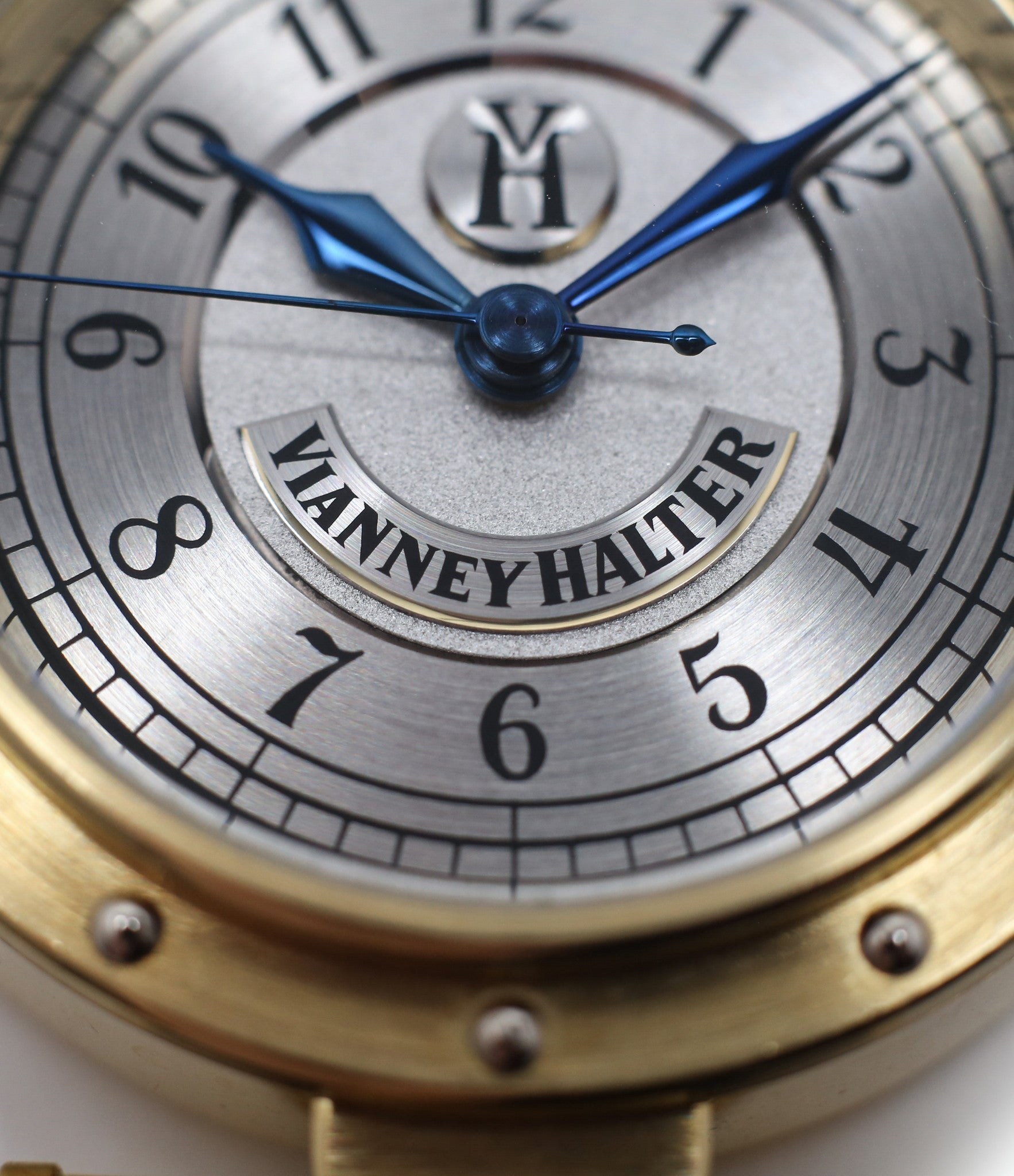rivets case buy Vianney Halter Classic yellow gold time-only dress watch at A Collected Man the approve seller of independent watchmakers