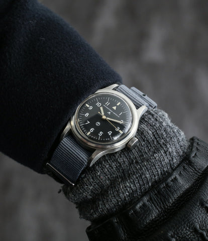 on the wrist buy vintage IWC Mark XI RAF-issued British military pilot watch 6B/346 steel Cal. 89 manual-winding at WATCH XCHANGE London