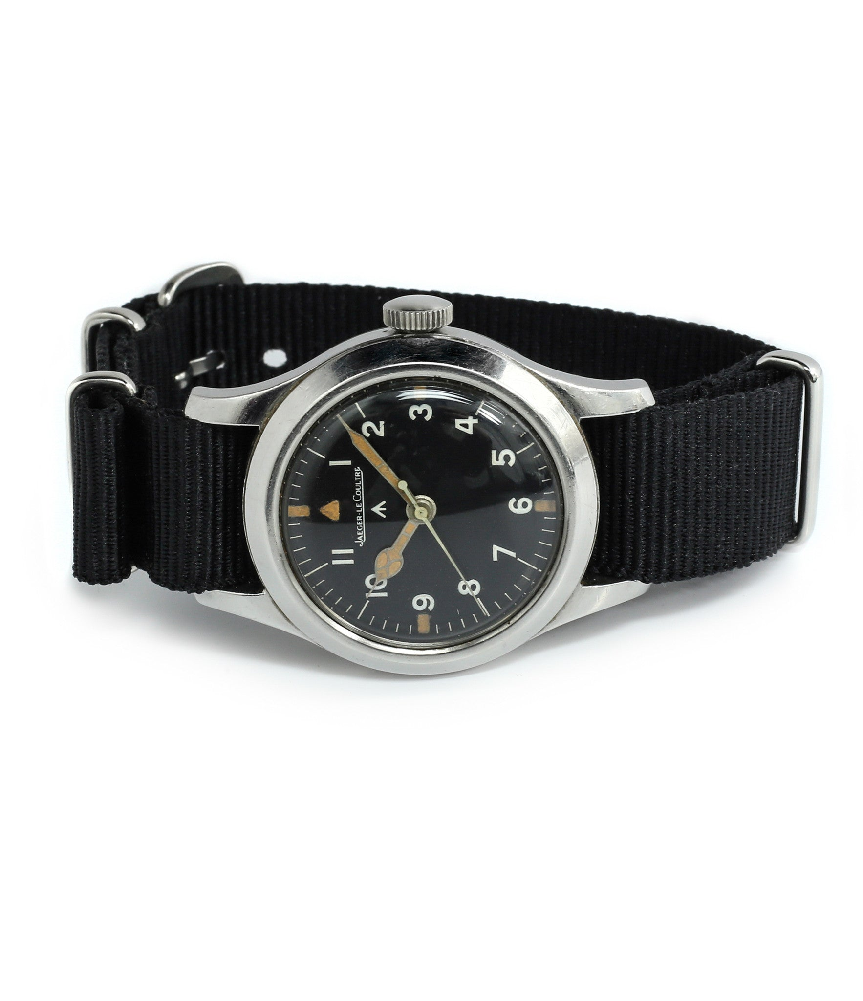 buy vintage Jaeger-LeCoultre Mark XI RAF military pilot watch 6B/346 unrestored dial cathedral hands at WATCH XCHANGE LONDON military watch online specialist