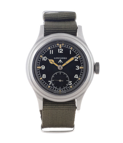buy vintage Longines W.W.W. Dirty Dozen British MoD-issued military watch F 4724 steel chronometer-graded watch for sale online WATCH XCHANGE London with authenticity guaranteed