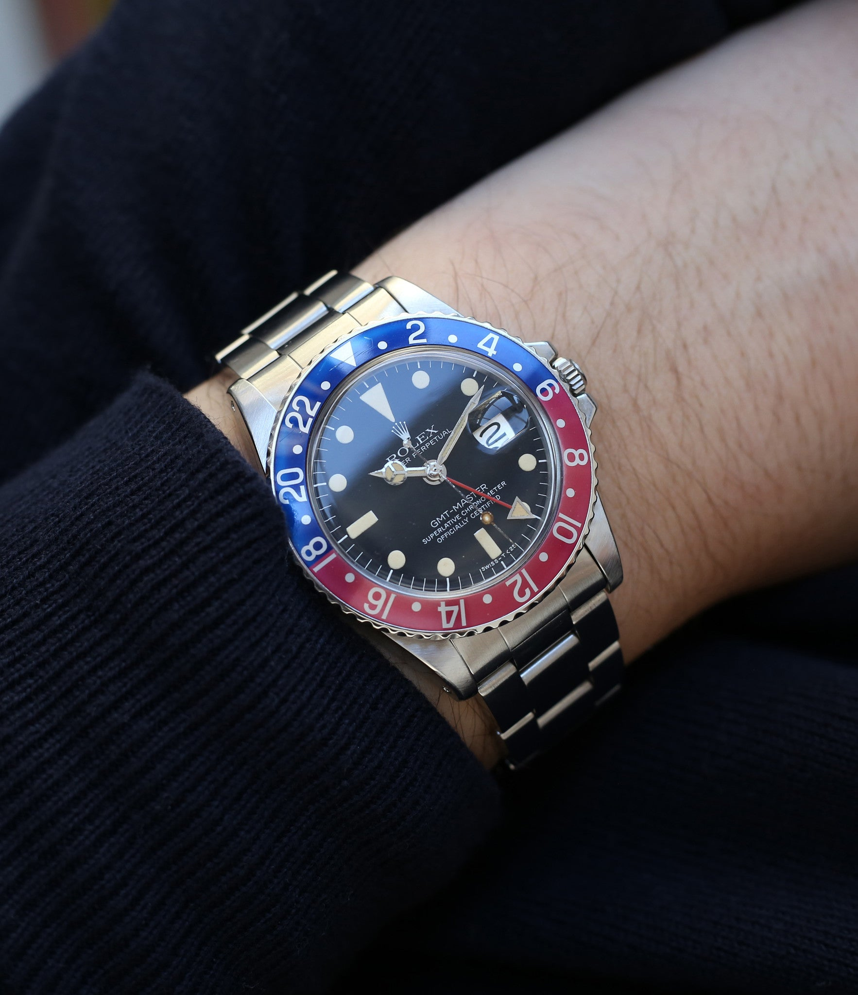 buy vintage Rolex GMT master 1675 steel wristwatch Pepsi bezel rare full set chronometer for sale from online WATCH XCHANGE London