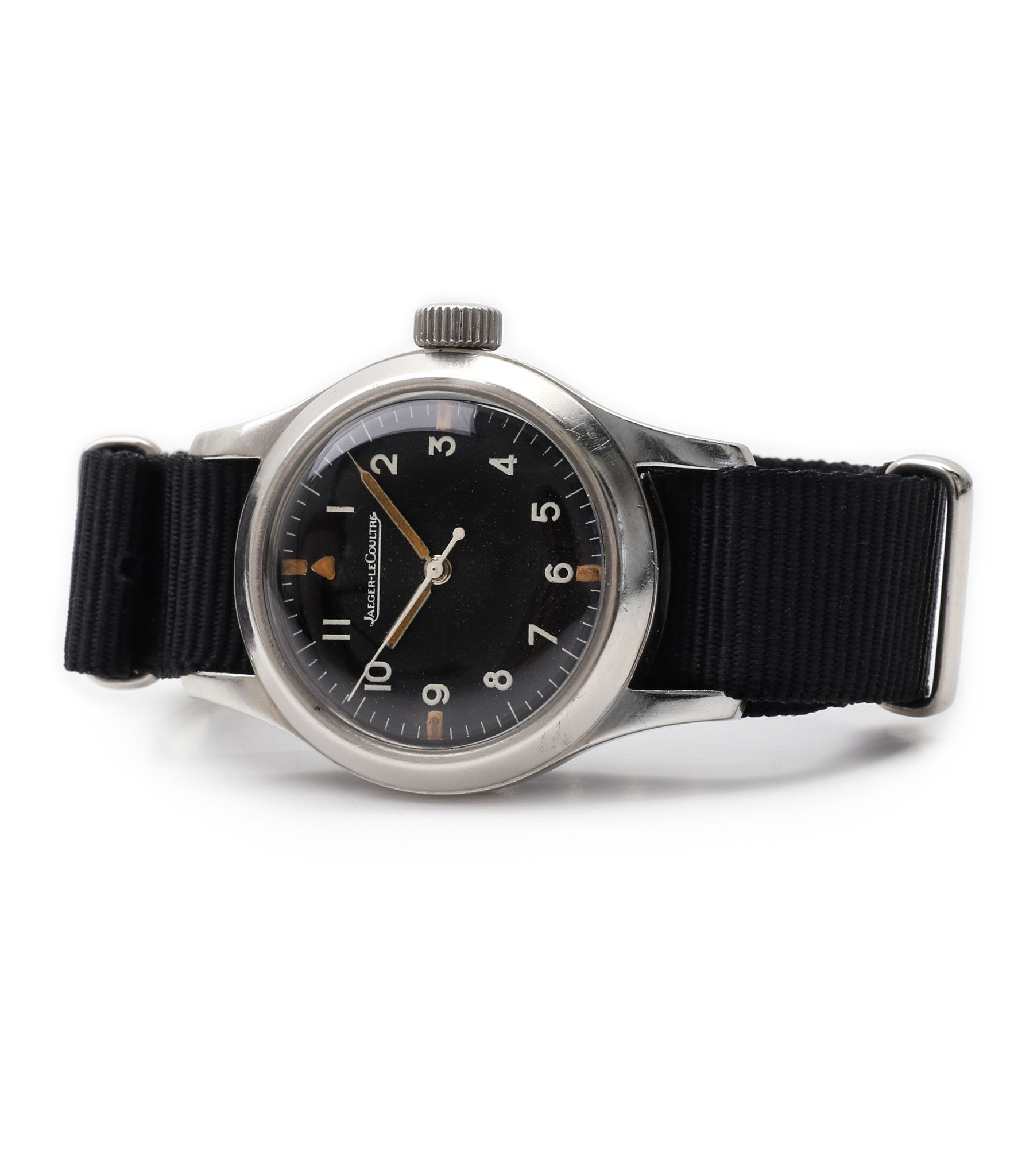buy Australian Air Force RAAF Jaeger-LeCoultre Mark 11 vintage military pilot watch G6B/346 watch for sale online at A Collected Man London vintage military watch specialist