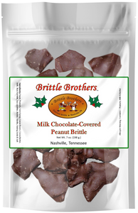 Brittle Brothers - Chocolate Peanut Brittle - 7 oz. Bag *PRE-ORDER*